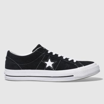 Converse Black & White One Star Suede Ox Mens Trainers