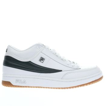 Fila White T-1 Mid Mens Trainers