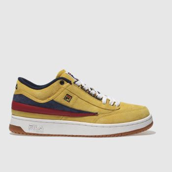 FILA YELLOW T-1 MID TRAINERS