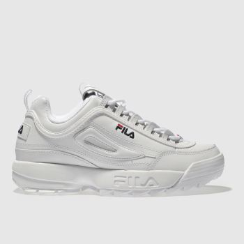 Fila White Disruptor Low Mens Trainers