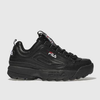 Fila Black Disruptor Ii Premium Mens Trainers