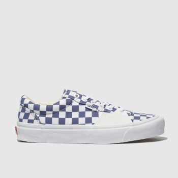 Vans White & Navy Style 205 Mens Trainers