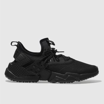 NIKE BLACK AIR HUARACHE DRIFT TRAINERS