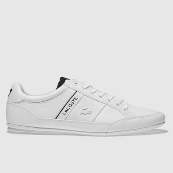 Lacoste White & Black Chaymon Trainers