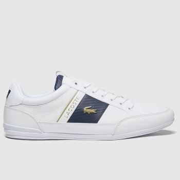 Lacoste White & Navy Chaymon Mens Trainers