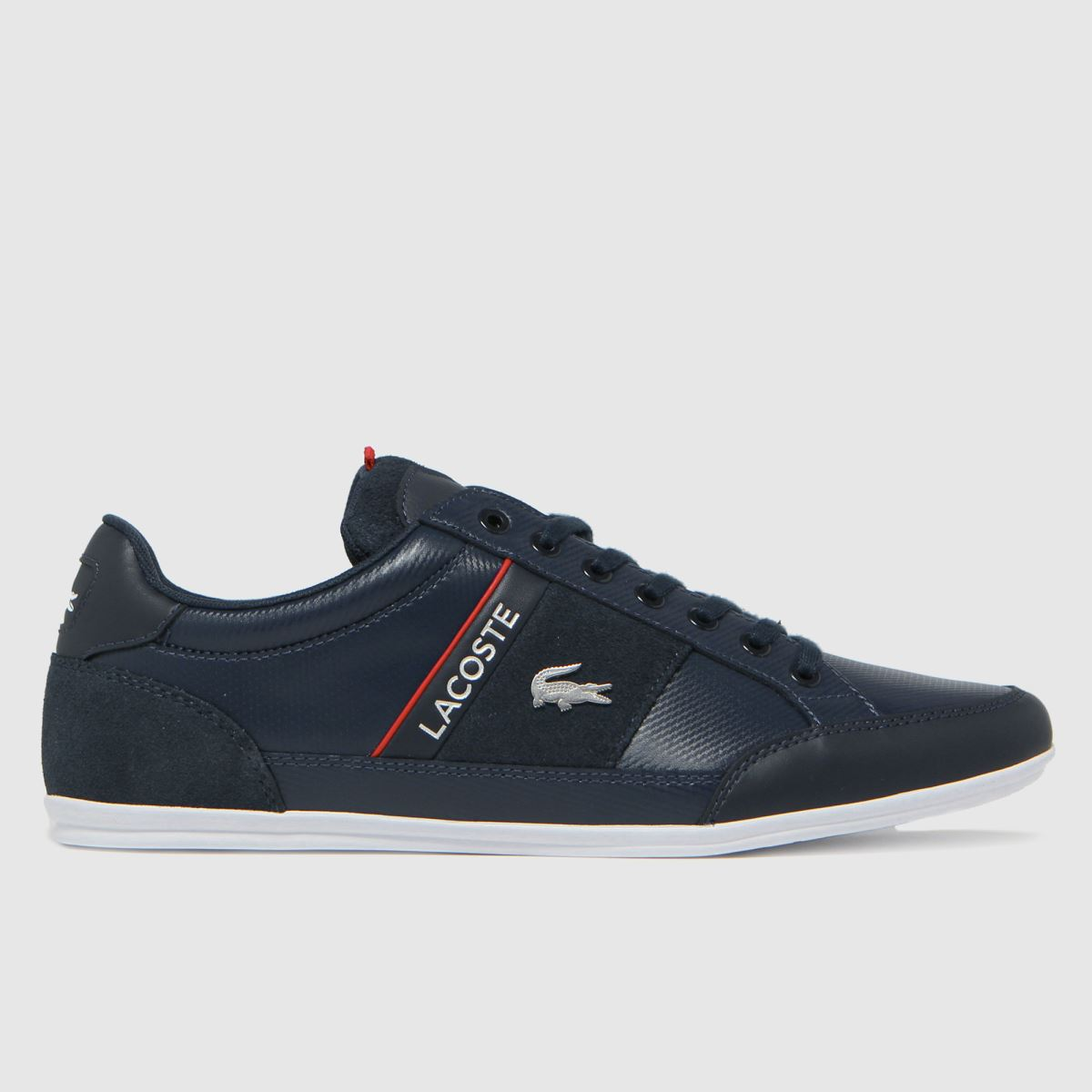 Lacoste Navy & White Chaymon Trainers
