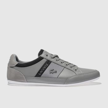 Lacoste Grey & Black Chaymon Mens Trainers
