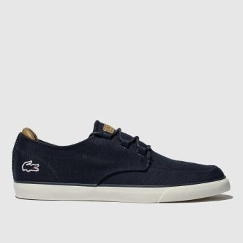 Lacoste Navy & White Esparre Deck Mens Trainers