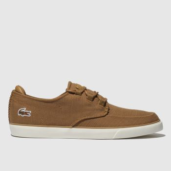 Lacoste Tan Esparre Deck Mens Trainers