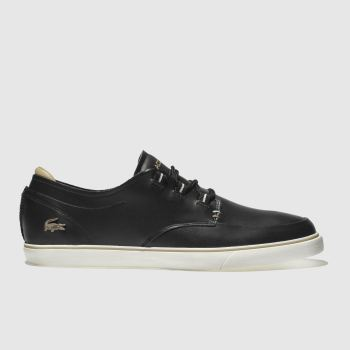 Lacoste Black Esparre Deck Trainers