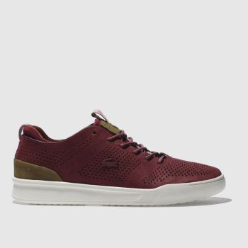 LACOSTE BURGUNDY EXPLORATEUR CRAFT TRAINERS