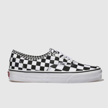 Vans White & Black Authentic Mix Checker Mens Trainers