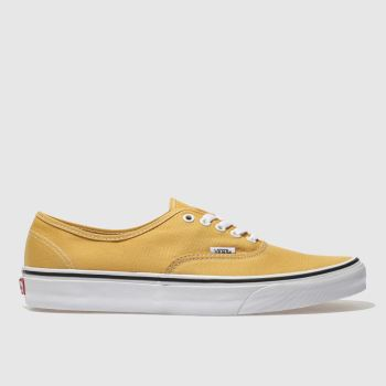 Vans Yellow Authentic Mens Trainers