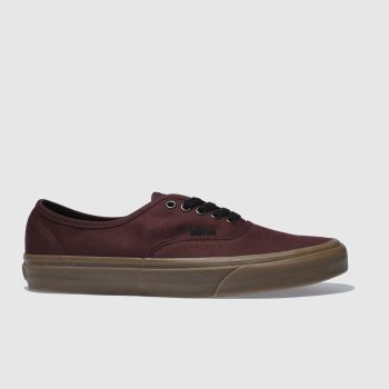 Vans Burgundy Authentic Mens Trainers
