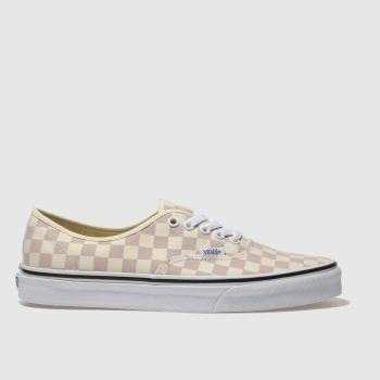 Vans Pale Pink Authentic Checkerboard Mens Trainers