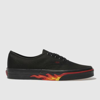 Vans Black Authentic Flame Wall Mens Trainers