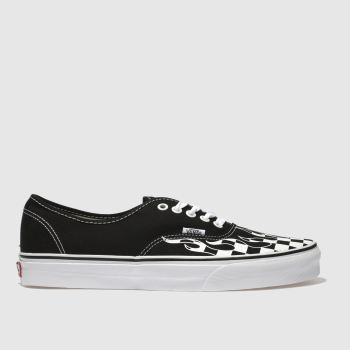 Vans Black   White Authentic Mens Trainers 0cd724c39b5