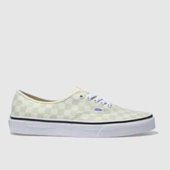 Vans Green Authentic Checkerboard Mens Trainers