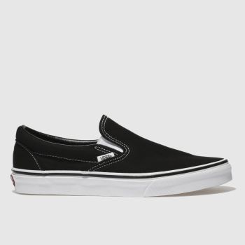 Vans Black & White Classic Slip-on Mens Trainers#