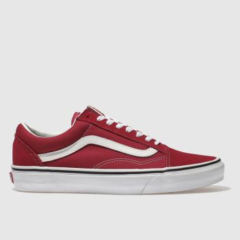 Vans Red Old Skool Mens Trainers
