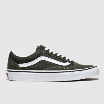 Vans Dark Green Old Skool Mens Trainers
