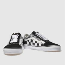 3b627c4741 mens black   white vans old skool mix checker trainers