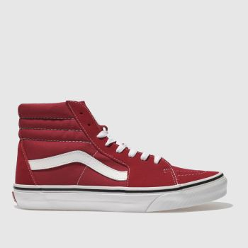Vans Red Sk8-Hi Mens Trainers