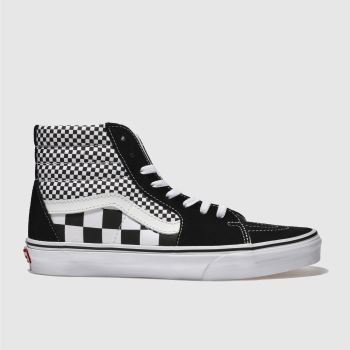 Vans Black Sk8-Hi Mix Checker Mens Trainers