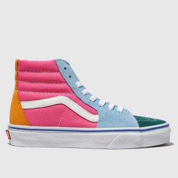 a2be3ba826 Vans Pink   Green Sk8-Hi Mens Trainers
