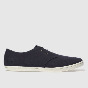 Fred Perry Navy Byron Low Two Tone Mens Trainers