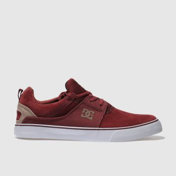 DC SHOES BURGUNDY HEATHROW VULC SE TRAINERS