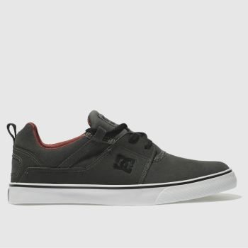 Dc Shoes Grey Heathrow Vulc Se Mens Trainers