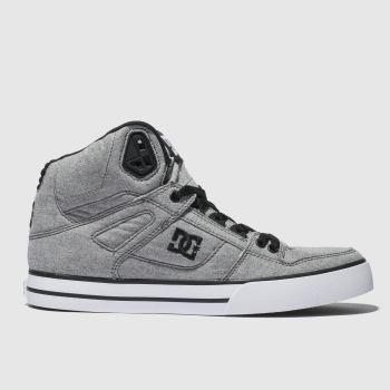 dc shoes light grey pure high-top wc tx se trainers