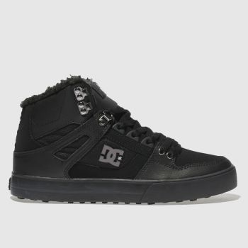 Dc Shoes Black Pure High-Top Wc Wnt Mens Trainers