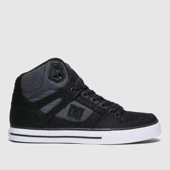 Dc Shoes Black & Grey Pure High-top Wc Tx Se Trainers