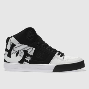 Dc Shoes Black & White PURE HIGH-TOP WC SP Trainers