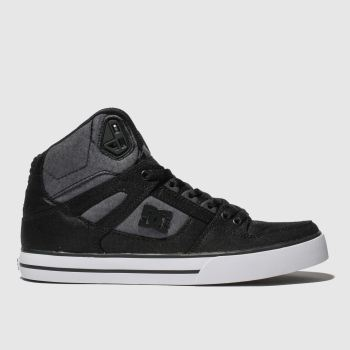 Dc Shoes Black & White Pure High-Top Wc Tx Se Mens Trainers