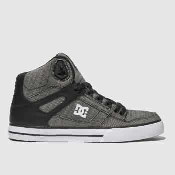 dc shoes grey & black pure high-top wc tx se trainers