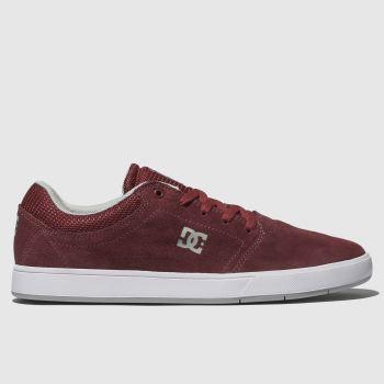 Dc Shoes Burgundy Crisis Mens Trainers