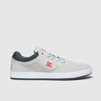Dc Light Grey Crisis Mens Trainers#