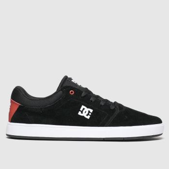 Dc Shoes Black & Red Crisis Mens Trainers