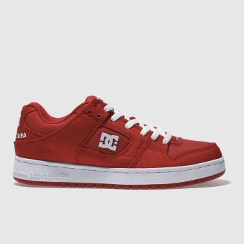 DC SHOES RED MANTECA TX SE TRAINERS