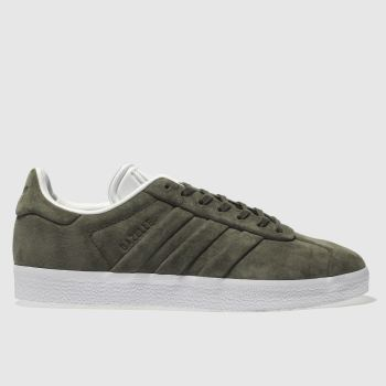Adidas Khaki Gazelle Stitch And Turn Mens Trainers