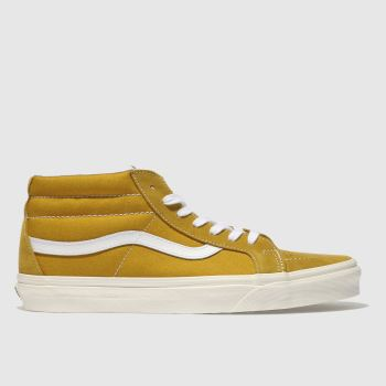 Vans Yellow Sk8-Mid Reissue Mens Trainers