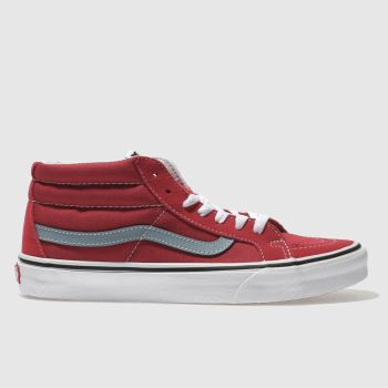 Vans Red Sk8-Mid Reissue Mens Trainers