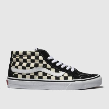 Vans Black & White Sk8-Mid Reissue Mens Trainers