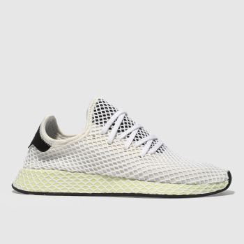 Adidas White Deerupt Runner Mens Trainers