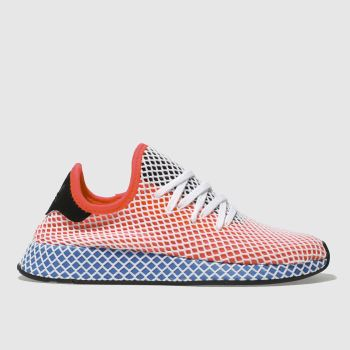 ADIDAS RED DEERUPT RUNNER TRAINERS