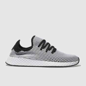 separation shoes ba59d a1172 ADIDAS BLACK  WHITE DEERUPT RUNNER TRAINERS