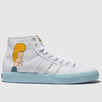 Adidas Skateboarding White Matchcourt X Beavis & Butthead Mens Trainers from Schuh